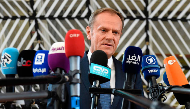 Foto del presidente del Consejo europeo, Donald Tusk.