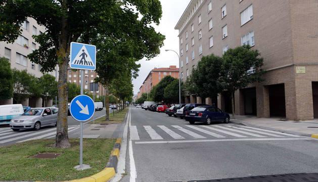 Paso de peatones en el que ocurrió el atropello, entre Virrey Armendáriz y Bernardino Tirapu.