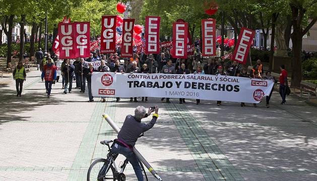 Los sindicatos tomarán las calles de Pamplona para celebrar el 1 de mayo