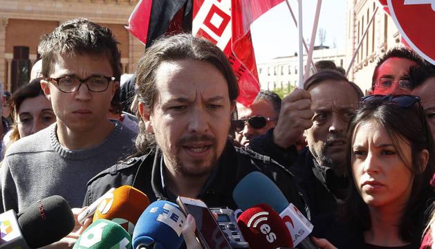 Pablo Iglesias, líder de Podemos, el Primero de Mayo.