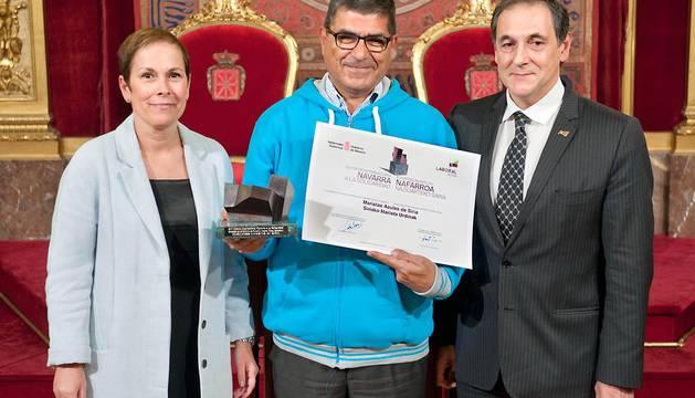 El Hermano Marista Georges Sabe, premiado en la pasada edición 'Premio Internacional Navarra a la Solidaridad 2016' por la labor que realizan los Maristas Azules en Alepo, Siria.