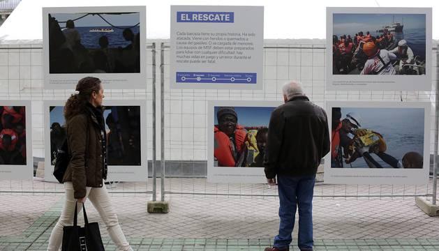 Exposición de Médicos Sin Fronteras sobre los refugiados