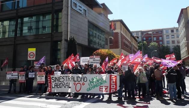 Protesta del 28 de abril en Pamplona por la salud laboral de los trabajadores