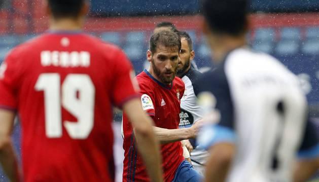 Fausto Tienza durante el partido contra el Dépor del pasado domingo
