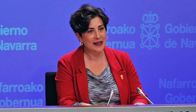 María Solana, portavoz del Gobierno de Navarra.