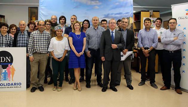 Participantes en la reciente la firma del acuerdo de colaboración.