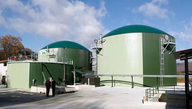Instantánea de la planta de biogás de Iraizotz cuando se inauguró en diciembre de 2010.