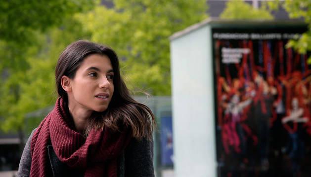 Natalia Huarte, el pasado martes en la Plaza del Baluarte.
