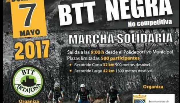 Cartel de la prueba de la BTT Negra Solidaria.