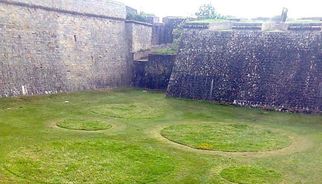 Un 'jardín efímero' en los fosos de la Ciudadela.