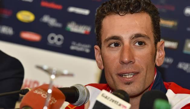 Vincenzo Nibali en la presentación de la prueba rosa