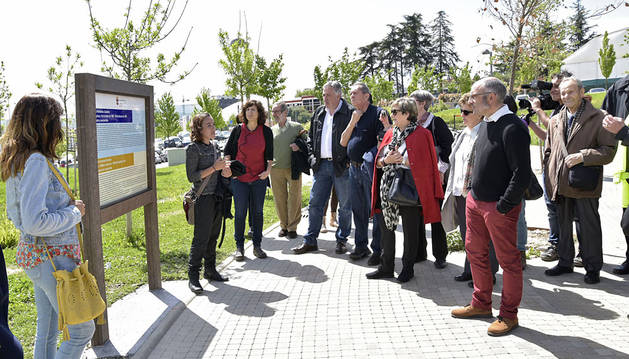 Instalados los paneles informativos en el parque de las Pioneras de Pamplona