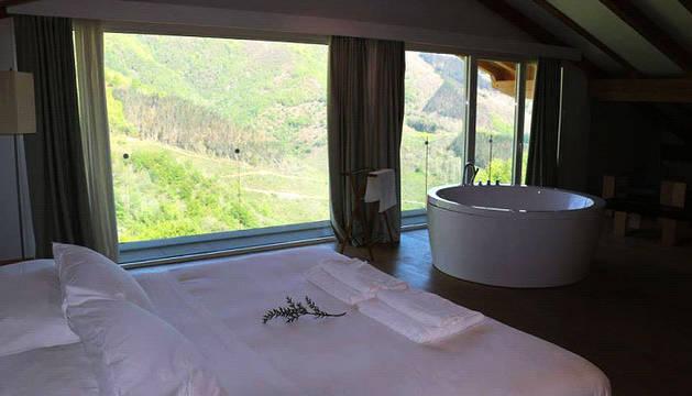 Imagen de una de las habitaciones del Arantza Hotela.