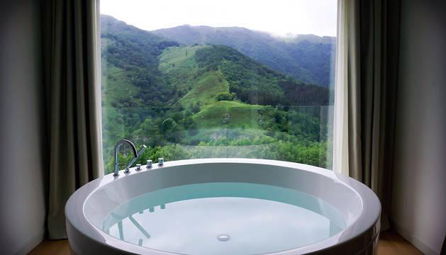 Vistas desde una de las habitaciones del Arantza Hotela.