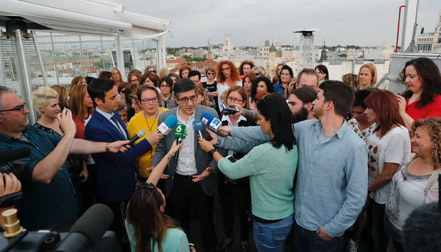 Patxi López en un acto con mujeres en Madrid