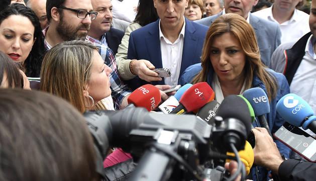 Susana Díaz en un acto en León