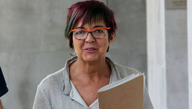 Tere Sáez, portavoz de Podemos en Navarra.