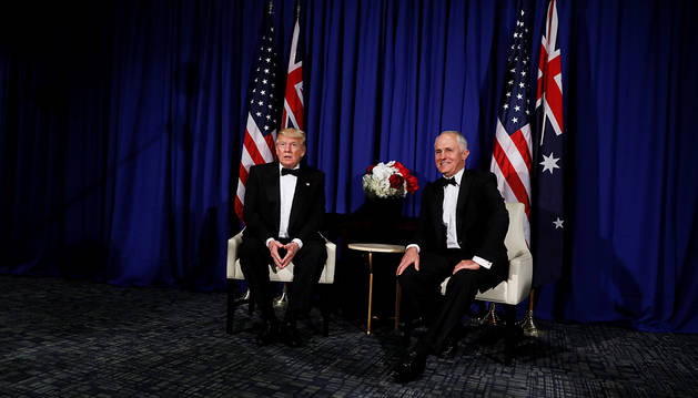 Trump vuelve a Nueva York para estrechar lazos con lazos con Australia