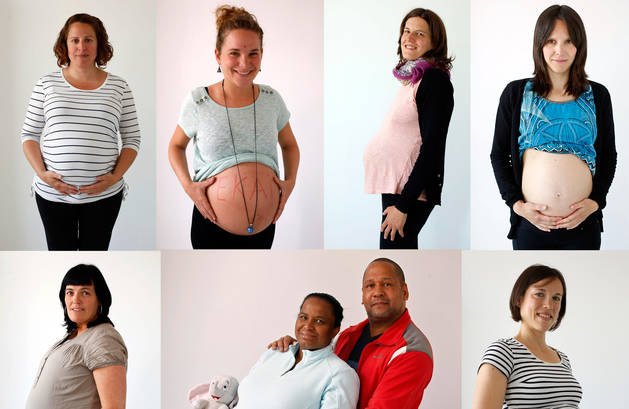 Siete embarazadas, seis de ellas en el último mes de gestación, portan en su seno el mejor regalo del día de la madre que podrían recibir.