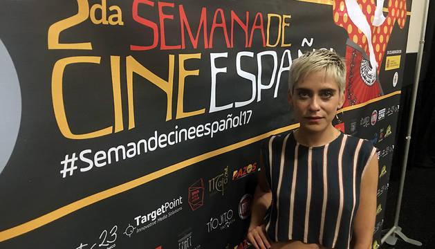 María León posa durante una entrevista con Efe en Fine Arts Cinema Café de Miramar, en San Juan (Puerto Rico).