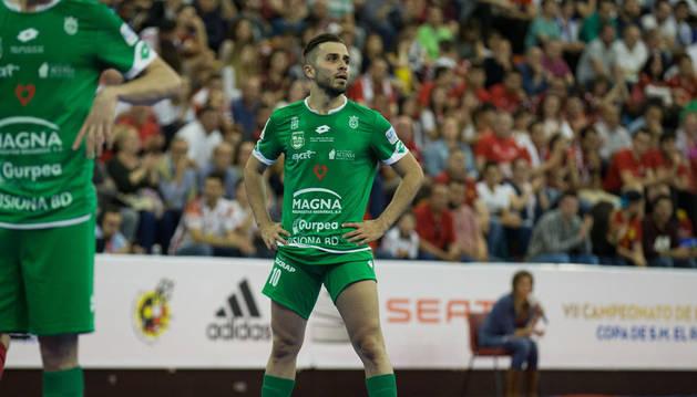 Rafa Usín durante un momento del partido