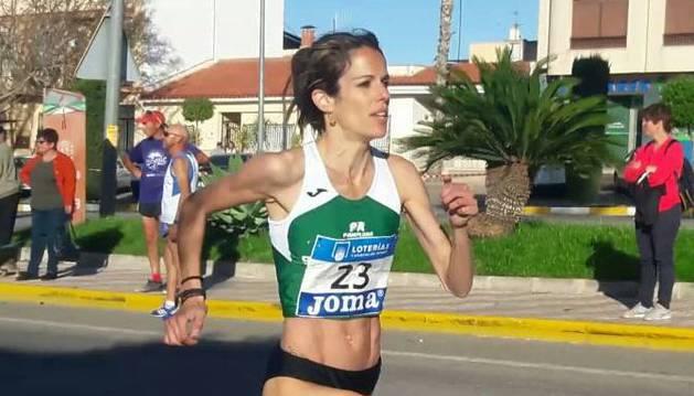 Maitane Melero Lacasia, durante la prueba de ayer en Murcia.