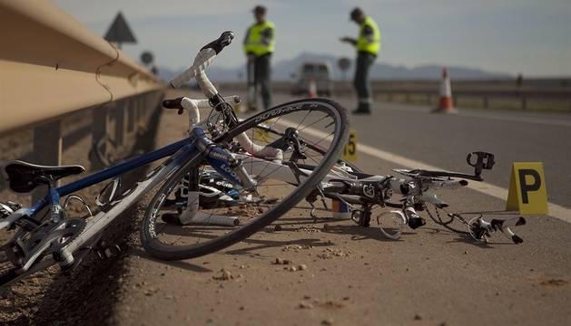 Imagen de archivo de un accidente de ciclistas