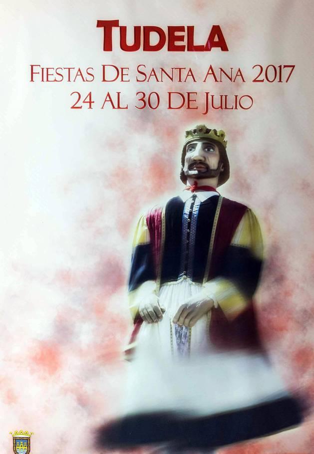 Imagen del cartel 'Gigantes Fiestas', ganador de las fiestas de Tudela 2017.