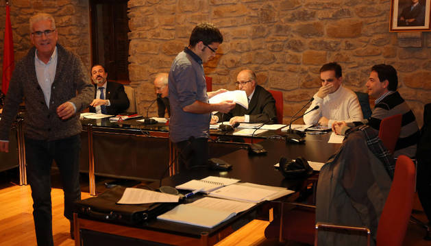 Imagen de archivo de un pleno del Ayuntamiento de la cendea de Cizur.