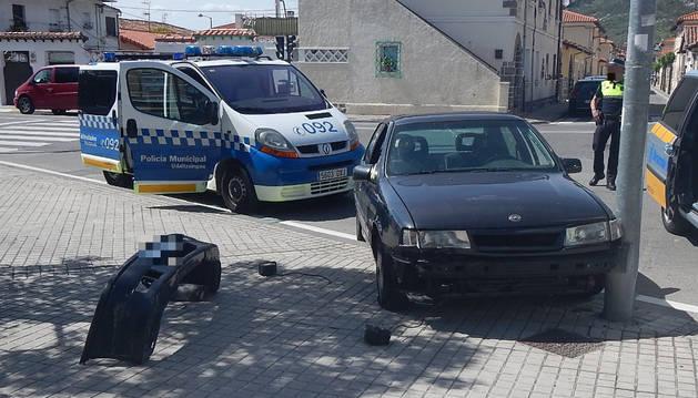 Accidente ocurrido en la calle Magdalena.