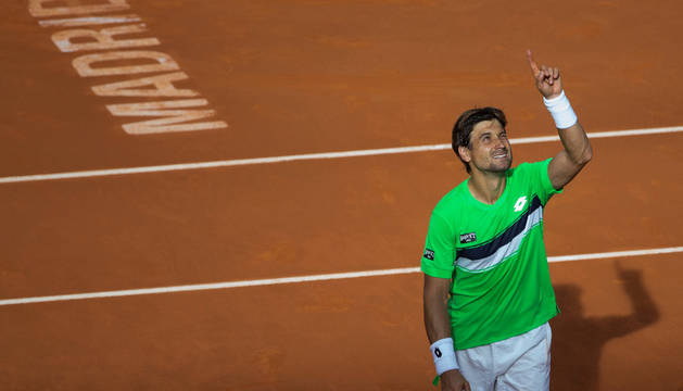 Ferrer celebra su victoria contra Kukushkin