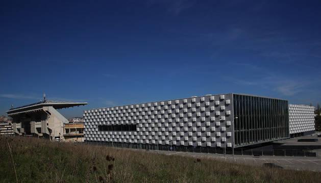 El pabellón Navarra Arena. El club tiene que pagar las cuotas de urbanización.