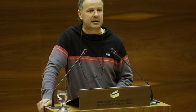 El parlamentario de EH Bildu Dabid Anaut.