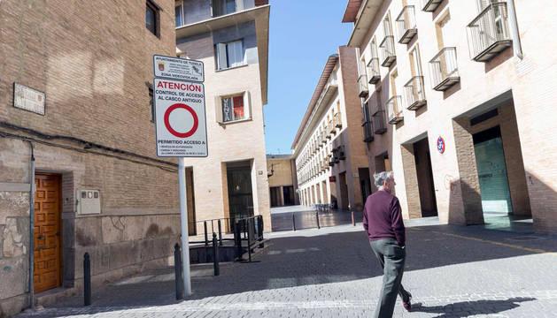 Denuncias en la zona peatonal de Tudela.