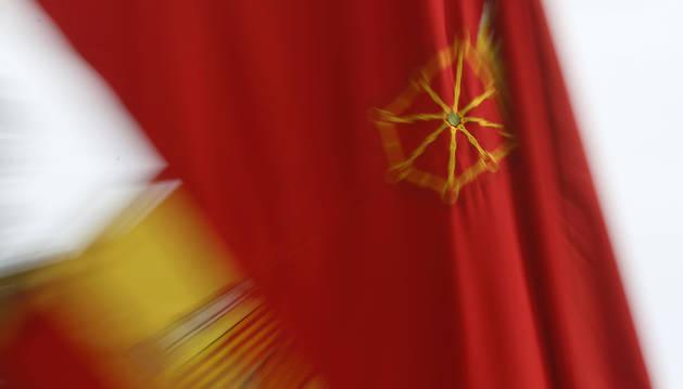 Foto de la bandera de Navarra.