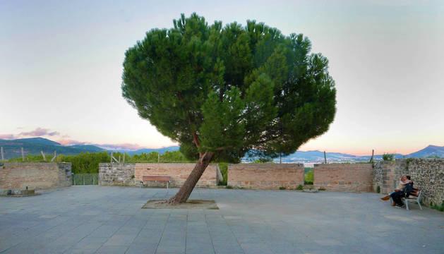 Foto del mirador del Caballo Blanco de Pamplona.