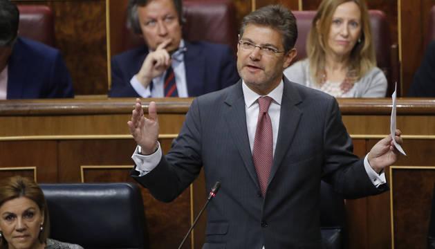 Rafael Catalá responde en la sesión de control al Gobierno en el Congreso de los Diputados