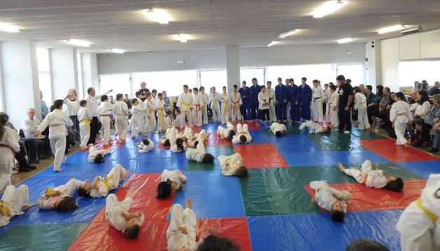Jornada de judo el 13 de mayo en la sala de tatamis de Lagunak
