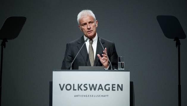 Foto del presidente del fabricante automovilístico alemán Volkswagen, Matthias Müller.