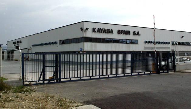 Acceso a la planta de Kayaba en Orkoien.