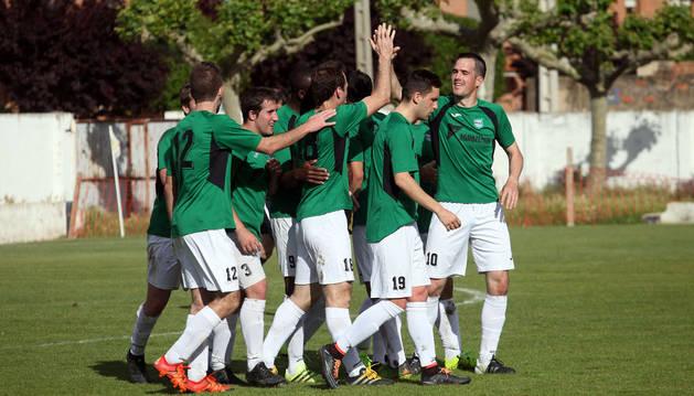 El Beti Kozkor celebra el gol marcado en Villafranca hace unas jornadas
