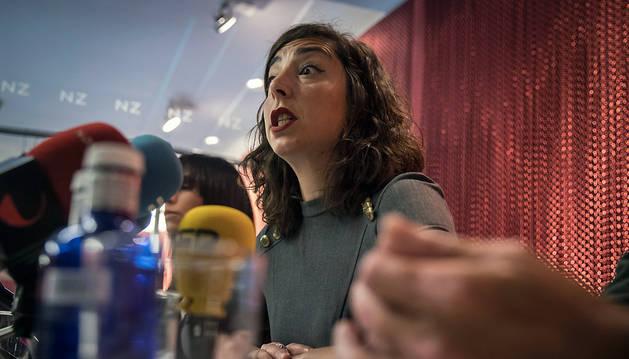 La secretaria general de Podemos en Navarra y portavoz parlamentaria, Laura Pérez.