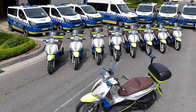 Los nuevos vehículos adquiridos por Policía Municipal.
