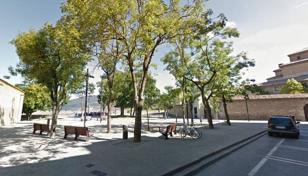 Plaza Virgen de la O de Pamplona.