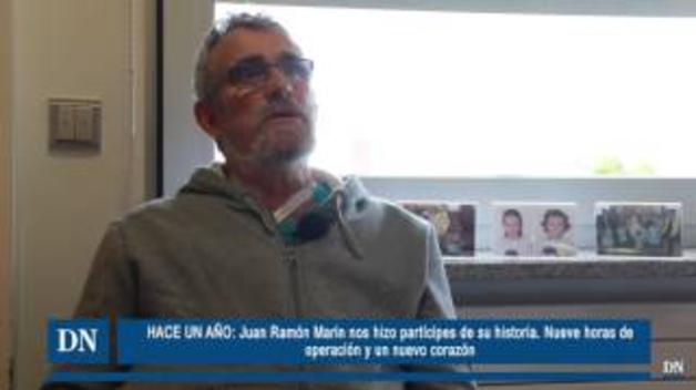 Juan Ramón Marín sonríe a la vida un año después de su transplante