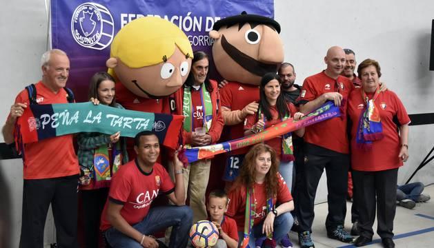 Este sábado, coincidiendo con el último encuentro de Osasuna en El Sadar, la Federación de Peñas Osasunistas ha organizado su tradicional `Día de las Peñas´.