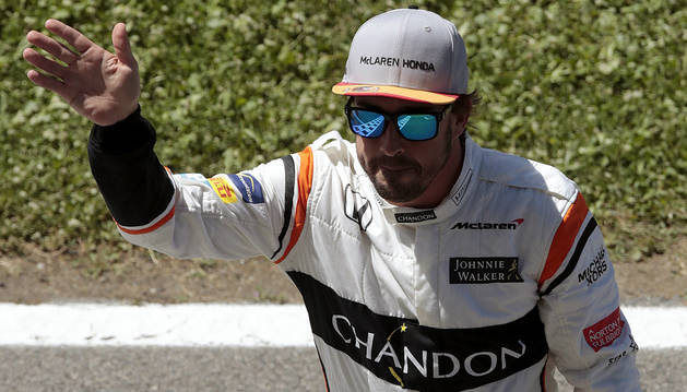 Foto de Fernando Alonso tras la clasificación del GP de España.