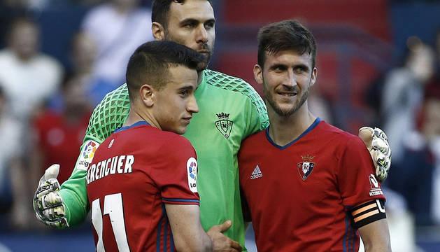Berenguer, Sirigu y Oier.