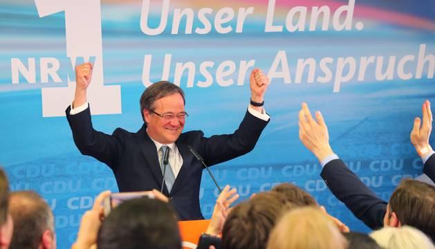 Armin Laschet, el candidato cristianodemócrata del partido de Merkel (CDU)