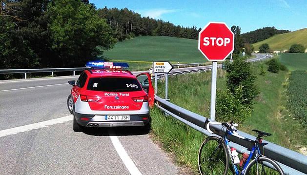 Atropellados dos ciclistas en Lizoain por una conductora que dio positivo